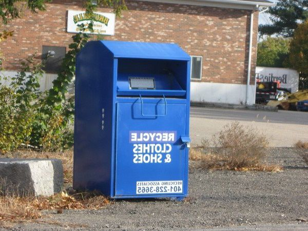 Clothing donation bin in Oklahoma