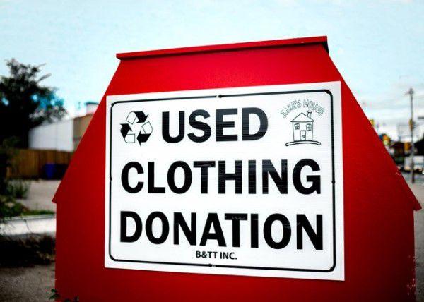 Clothing donation bin in Oregon