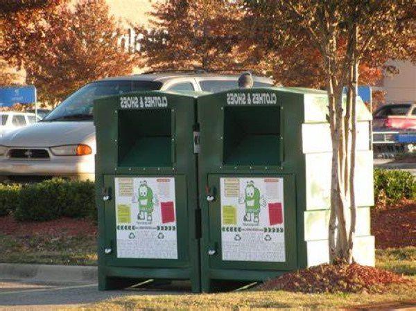 Clothing donation bin in South Carolina