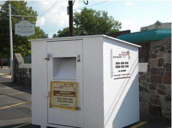 Clothing donation bin in South Dakota