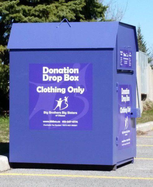 Clothing drop off bin in Wyoming