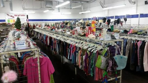 Donated clothes for sale in an Oklahoma thrift store