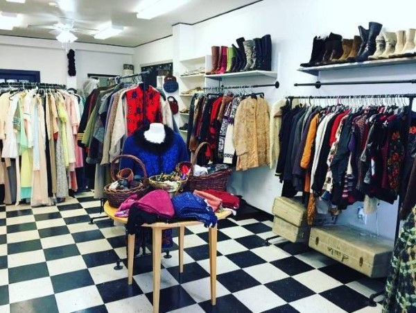 Donated clothes in a Rhode Island thrift store