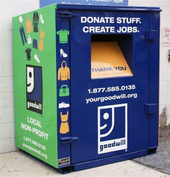 Donation bin in Utah