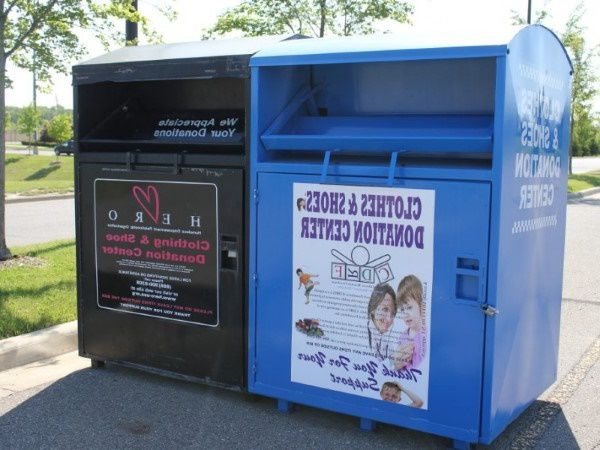 Donation bin that accepts clothes in Pennsylvania