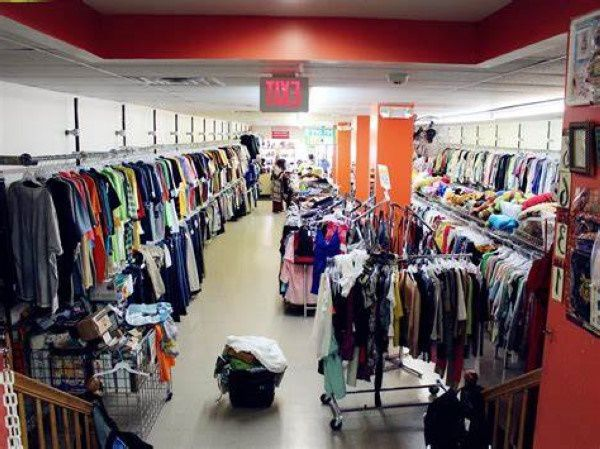 Inside a thrift store in Iowa