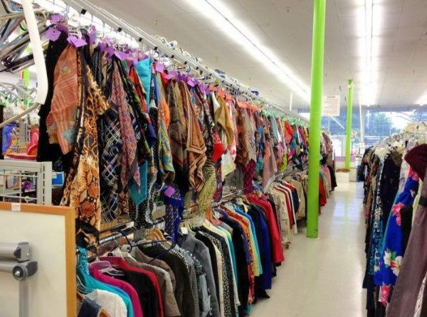 Pennsylvania thrift store selling donated clothes