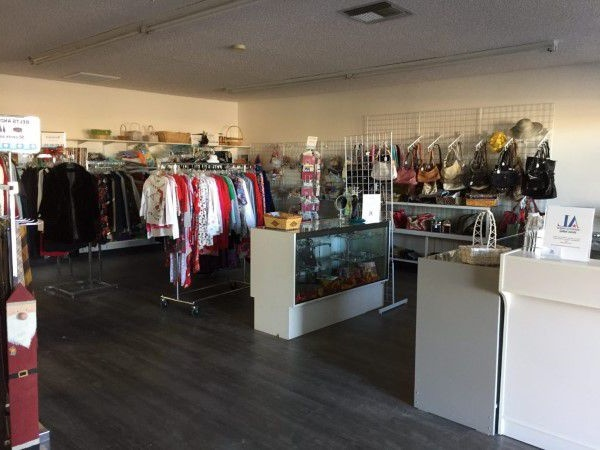 Small thrift store selling donated clothes in Idaho
