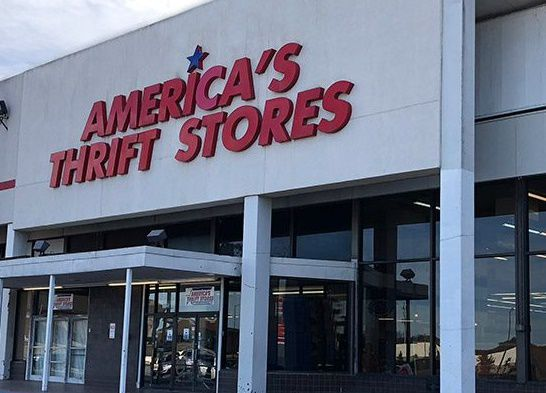 Storefront of Americas Thrift Store