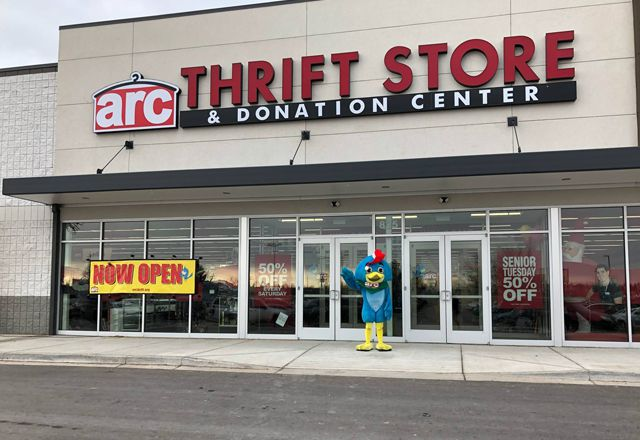 Storefront of an Arc donation location