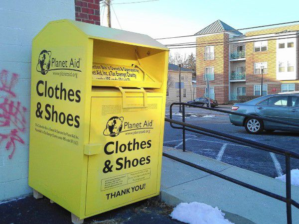 Texas clothing donation bin