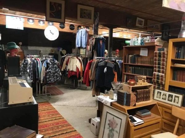 Thrift store in New Hampshire selling warm clothes and hosehold goods