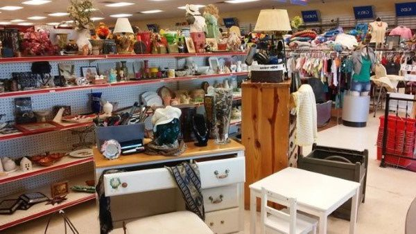 Thrift store in South Dakota selling donated homewares