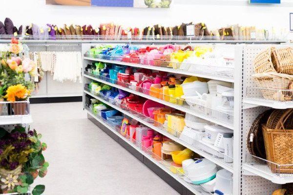 Thrift store in Utah selling colorful homewares