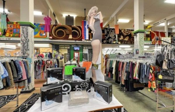 Thrift store in Wisconsin selling clothes and homewares