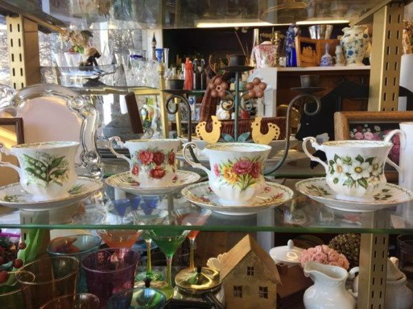 Thrift store in Wyoming selling tea cups
