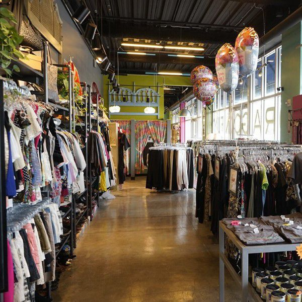 Thrift store with clothes in Arkansas