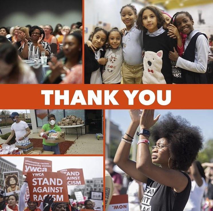 Volunteers supporting YWCA