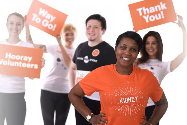 Volunteers supporting the National Kidney Foundation